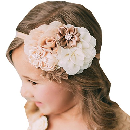 Miugle Baby Girl Flower Headbands Turban Head Wraps Infant Girls Hair Band Headwear