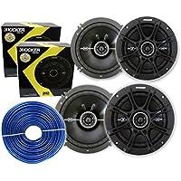 4) Kicker 41DSC654 6.5 480 Watt 2-Way (2 PAIRS) + FREE 18 Gauge 50ft Speaker Wire**