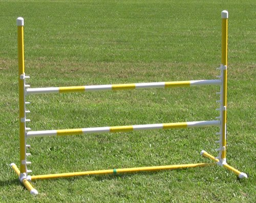 Affordable Agility Yellow Competition Adjustable Jump by Affordable Agility