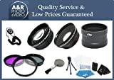 High Definition 0.45x Wide angle and 2x Telephoto Lens Kit Plus 3 Filters and Lens Adapter For Nikon Coolpix A Camera