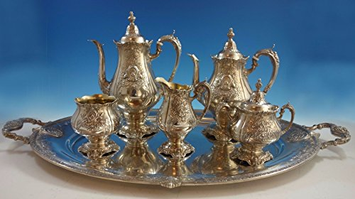 (Sir Christopher by Wallace Sterling Silver Tea Set 5pc with Tray (#1942))