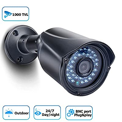 Security Camera 1000TVL Bullet Security Camera Analog CCTV Camera Day/Night Vision Outdoor Camera for Home Security by JOOAN