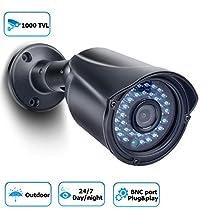 Security Camera 1000TVL Bullet Security Camera Analog CCTV Camera Day/Night Vision Outdoor Camera for Home Security