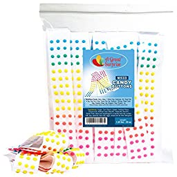Necco Candy Buttons Strips, Approximately 50 Strips Bulk Button Candy