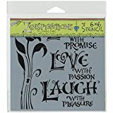 Crafters Workshop Template, 6 by 6-Inch, Live, Love and Laugh