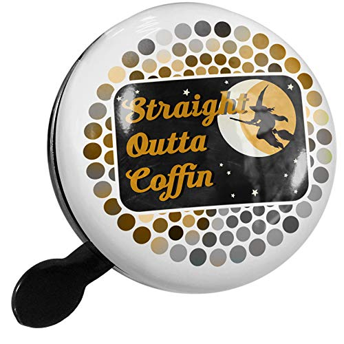 NEONBLOND Bike Bell Straight Outta Coffin Halloween Witch Scooter or Bicycle -