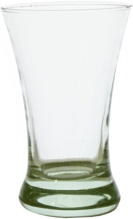 Vasos de cristal reciclado Grehom (6 unidades) - curvado cóncavo; Soplado de vidrio reciclado; Made in Spain; Bonito regalo: Amazon.es: Hogar