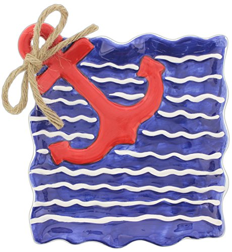 """Special T Imports 7.5"""" Decorative Ceramic Anchor Plate"""