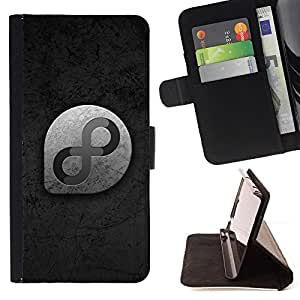 For Sony Xperia M5 cool monochrome infinity 8 Style PU Leather Case Wallet Flip Stand Flap Closure Cover