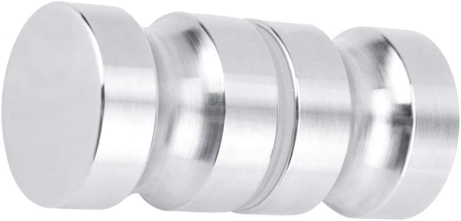 Double Sided Shower Glass Door Knob Round Stainless Steel Back-to-Back Bathroom Door Handle Pull for Bathroom Lock Hardware