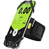 Bone Collection Sports Running Armband, Slim-Fit Cell Phone Arm Band with Adjustable Strap for iPhone Xs Max XR X 8 7 6S Plus Samsung Galaxy S9 S8 Note 9 8 Smartphones, Run Tie Series - Black (Large)