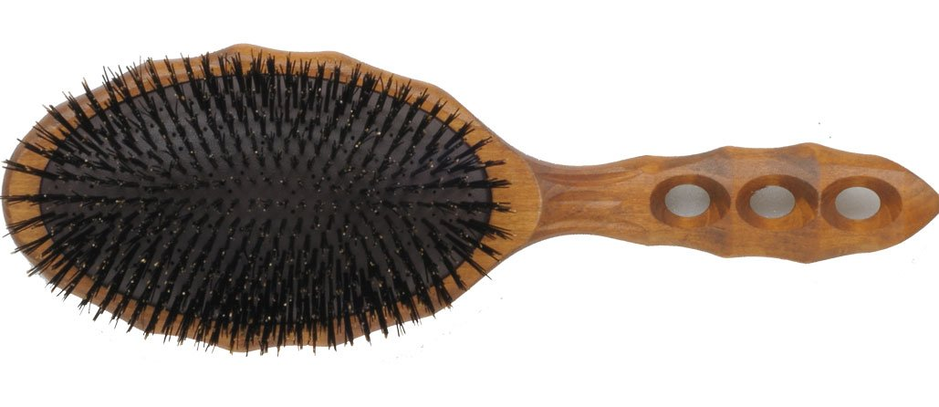 YS Park Hair Brush - Tortoise - Wood Air Vent Cushion Hair Gloss Flat Eco Styler Brush YS-120CS1