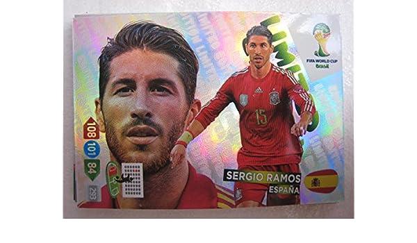 Copa Mundial de la FIFA Brasil 2014 Adrenalyn XL Sergio Ramos tarjeta de edición limitada: Amazon.es: Deportes y aire libre