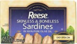 Reese Skinless and Boneless Sardines in 100% Olive Oil, 4.375-Ounce (Pack of 10)
