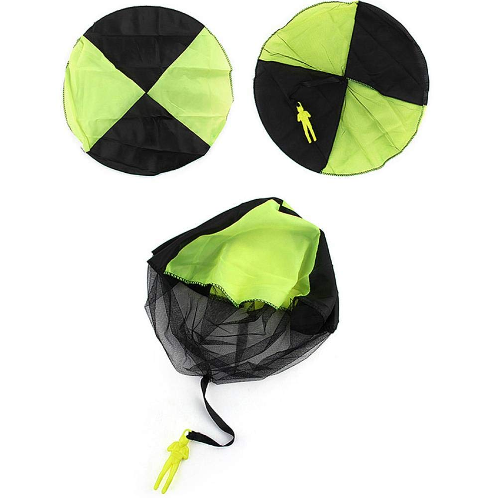 FJFJFJ 4pcs Hand Throwing Kids Mini Play Parachute Toy Kids Outdoor Games Children Educational Toys Soldier Outdoor Sports, Green by FJFJFJ