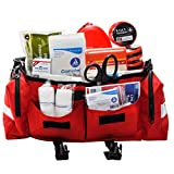 School First Aid & Active Shooter Emergency Kit with Tourniquets Red Bag by MFASCO