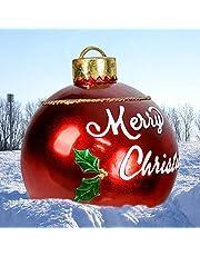 Piklodo Kerst Opblaasbare bal, Opblaasbare Kerst Yard Decoratie, Grote PVC Opblaasbare Kerstbal Ornament voor Vakantie Bruiloft Outdoor Yard Decoraties, 23,6 Inch