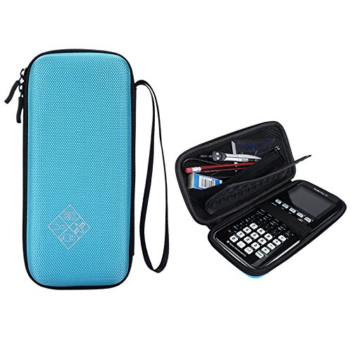 for Graphing Calculator Texas Instruments TI-84 / Plus CE Hard EVA Carrying Case Protective Storage Bag - Blue