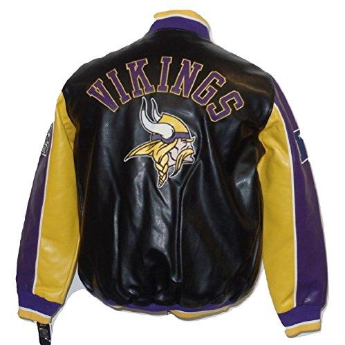 Minnesota Vikings Leather (Minnesota Vikings Leather Legend Faux Leather PVC Jacket)
