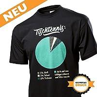 Lustiges Herren Tischtennis Training T-Shirt / hochwertiges und witzig...