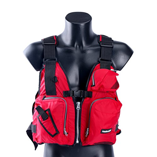 Amairne-made-Boat-Buoyancy-Aid-Sailing-Kayak-Fishing-Life-Jacket-Vest-D13-Red