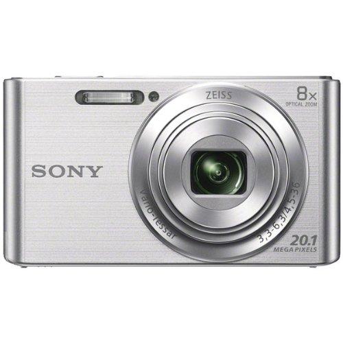 Sony DSCW830 20.1MP Digital Camera with 2.7in LCD (Silver) (Renewed)