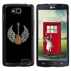 Be Good Phone Accessory // Dura Cáscara cubierta Protectora Caso Carcasa Funda de Protección para LG OPTIMUS L90 / D415 // Wings Guitar Music Rock Love Angel Art God Heaven