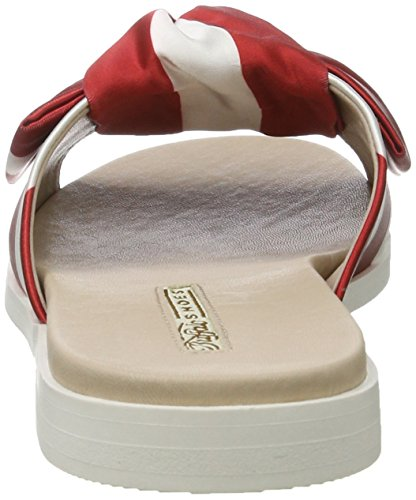 Buffalo Shoes 16s34-1 Satin, Sandalias Planas Mujer Multicolor (Red 04)