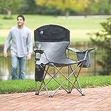 Coleman Cooler Quad Chair Gray/Black