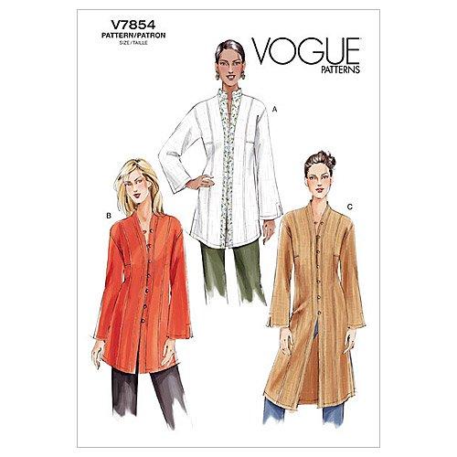(Vogue Patterns V7854 Misses' Petite Tunic, Size 8-10-12)
