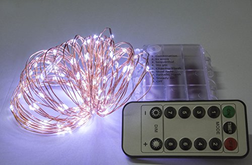 Homeleo 10 Meters 100 Leds Battery Operated Christmas String Lights W Remote Wireless Dimmable