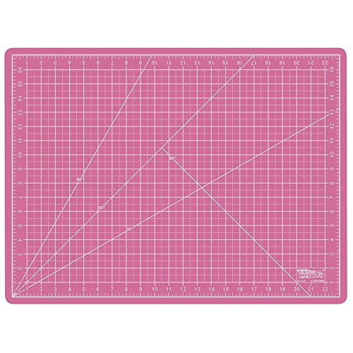 "US Art Supply 18"" x 24"" PINK/BLUE Professional Self Healing 5-Ply Double Sided Durable Non-Slip PVC Cutting Mat Great for Scrapbooking, Quilting, Sewing and all Arts & Crafts Projects from US Art Supply"