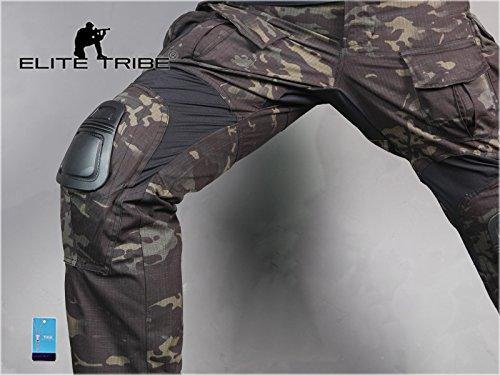 Homme Tenues de Combat Pantalon Militaire Gen3 Pantalons de Tactique et Genouillères Multicam Black 5