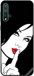 For Huawei Nova 5 Case Shhh Red Lips Girl