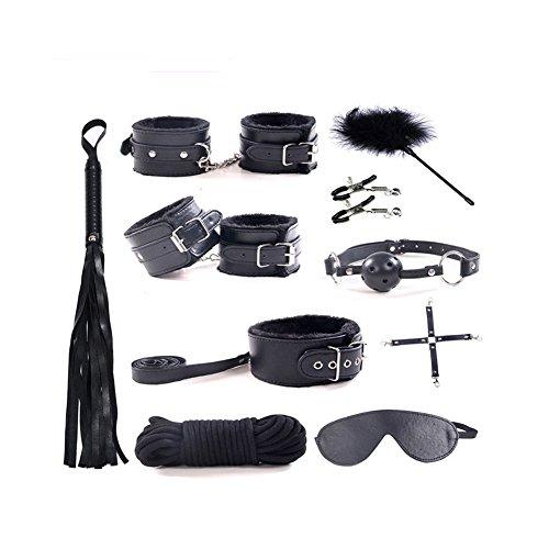 10Pcs-Bed-Restraints-Bondage-Kit-Fetish-BDSM-Restraints-for-Sex-Play-Sex-Toys-for-Couples-Black-by-Yamde