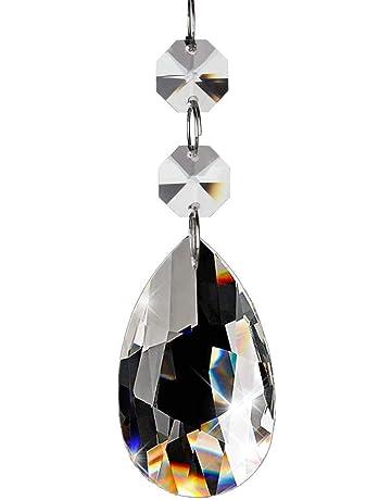 Fushing 20 Piezas De Pendientes Cristalinos De Las Gotas Prismáticas De La Lámpara De La Lágrima