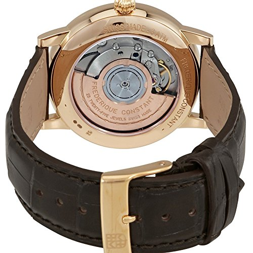 Frederique Constant Classics Silver Dial Leather Strap Men's Watch FC316MC5B9