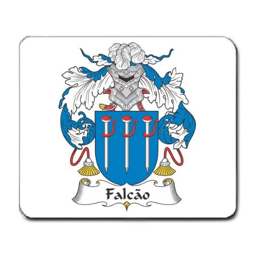 Falcao Family Crest Coat of Arms Mouse Pad