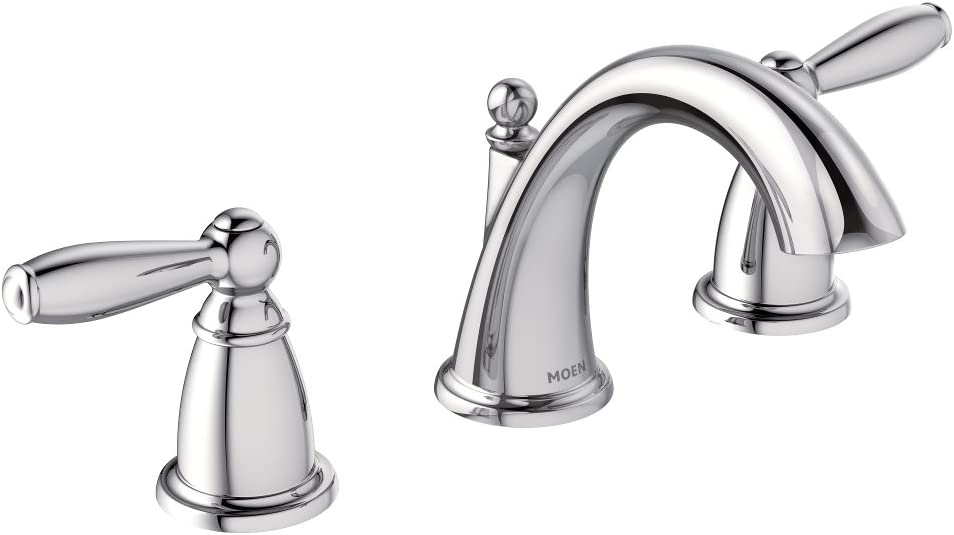 Moen T6620 Brantford Two Handle 8 In Widespread Bathroom Faucet Trim Kit Valve Required Brushed Nickel Chrome Bathroom Sink Faucets Amazon Com