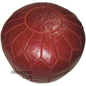 Poufs For Sale Magnificent Amazon Maisonmarrakech Handmade Leather Footstool Marrakech Tan