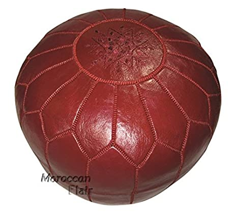 Strange Moroccan Flair Genuine Handmade Moroccan Leather Pouf Bedroom Living Room Round Ottoman Authentic Goat Skin Leather Eco Friendly Materials Customarchery Wood Chair Design Ideas Customarcherynet