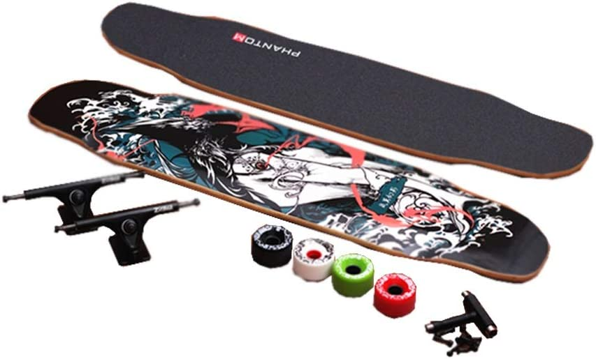 LIUFS-スケートボード ホールボードプロフェッショナルロングボード大人用ギフト子供向けゲームスケートボードスペシャル四輪スケートボード - Mirage Eagle  65-90KG