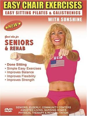 Seniors Exercise DVD: Senior / Elderly Sitting Exercises DVD, Easy Sitting PILATES Strength, Rehab & Physical Therapy. Seniors Elderly Exercises DVD. This Sitting Seniors Fitness DVD is Good also for Easy Osteoporosis Exercises, Diabetes Exercises, Arthri
