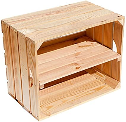 Kistenkolli Altes Land Massive Caja de Estante Zapatos Fruta (cajón-estantería tamaño Aprox. 50x 40x 31cm xxxaus del Antiguo landxxx Frutas Cajas de ...