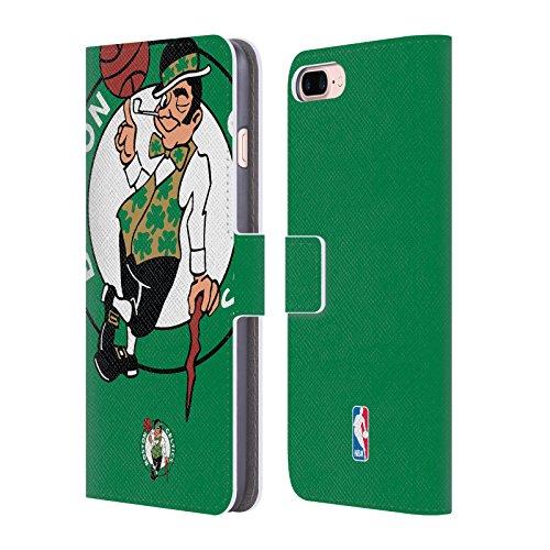 Official NBA Oversized Icon Boston Celtics Leather Book Wallet Case Cover For Apple iPhone 7 Plus / 8 Plus (Boston Snap Celtics)