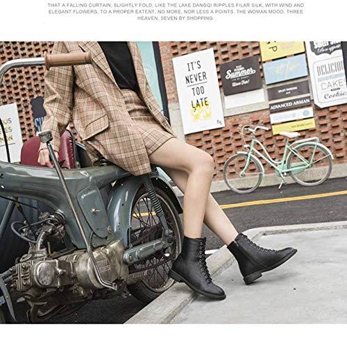 Stivaletti Black Cerniera Pelle Martin Velluto Frontale Stivali Da Donna Con In Più AWrPnqwFA1