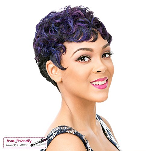 Its A Wig Vintage Finger Wave Flare With Side Lace Part With Heat Resistant Synthetic Wig SYN NUNA
