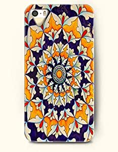 OOFIT Apple iPhone 5 5S Case Moroccan Pattern ( Navy and Gold Floral Pattern )