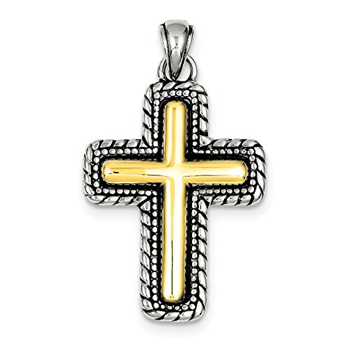 ICE CARATS 925 Sterling Silver Vermeil Cross Religious Pendant Charm Necklace Latin Fine Jewelry Ideal Mothers Day Gifts For Mom Women Gift Set From Heart