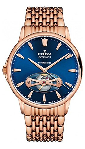 Edox Men's 85021 37RM BUIR Les Bemonts Analog Display Swiss Automatic Rose Gold Watch